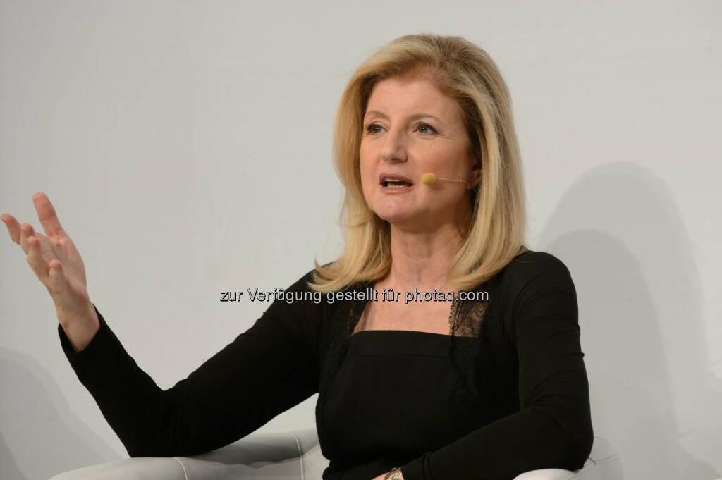 Arianna Huffington beim diesjährigen future.talk der Telekom Austria Group., © Telekom Austria Group / Rainer Eckharter (24.09.2014)