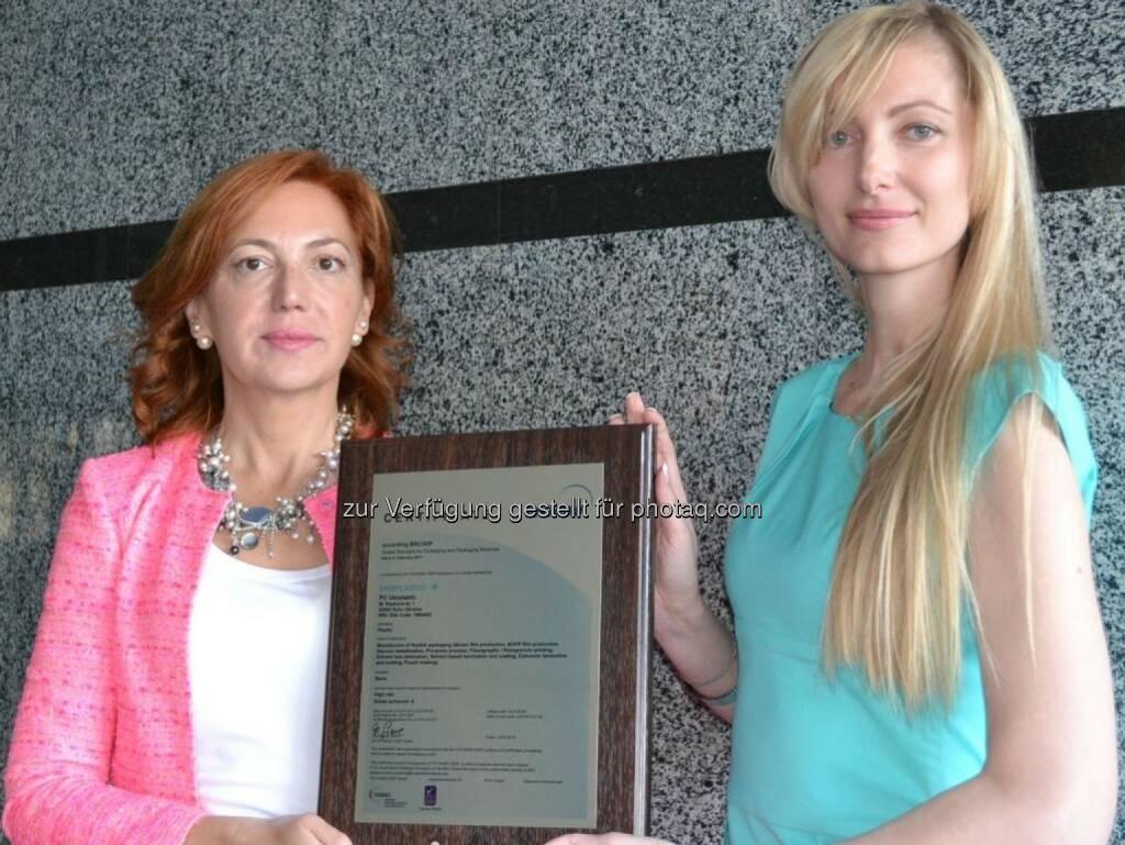 Ukrplastic hat ein internationales BRC/IOP Zertifikat bekommen, © Aussender (24.09.2014)