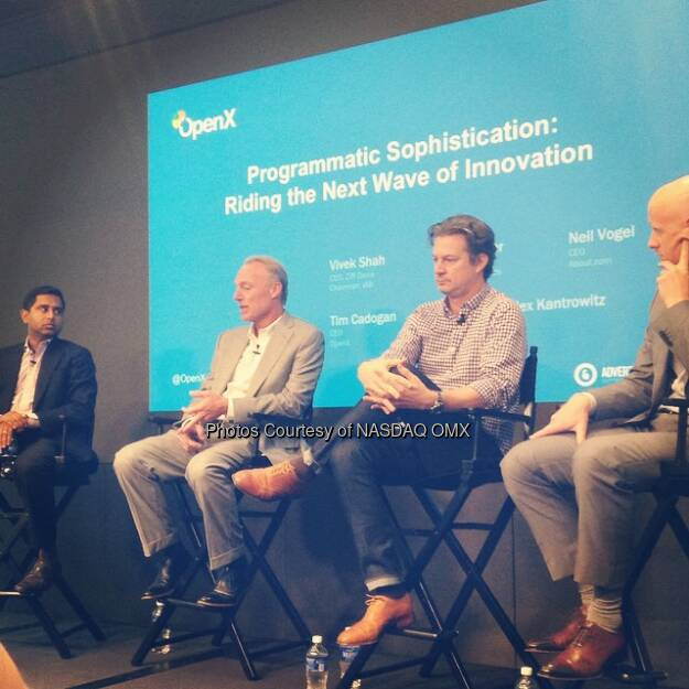 Discussing The next wave of innovation in Ad technology here at #Adweek. @advertisingweek  Source: http://facebook.com/NASDAQ (29.09.2014)
