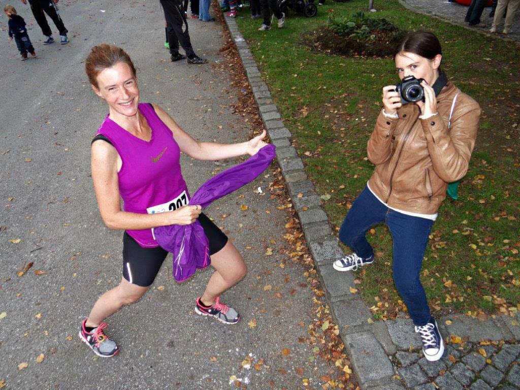Martina und Emily Draper beim Königstetter Herbstlauf, © Diverse  (05.10.2014)