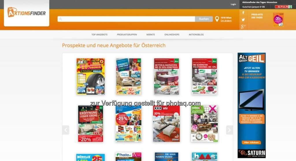 Aktionsfinder GmbH: Relaunch für Aktionsfinder.at, © Aussender (07.10.2014)