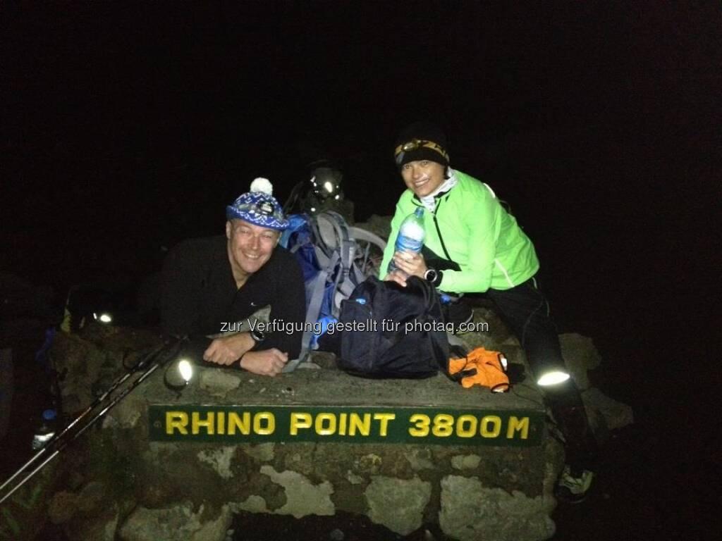 25.1., 02h30 am Rhino Point, noch ca. 4h zum Gipfel :-), © Karl Mauracher (26.01.2013)