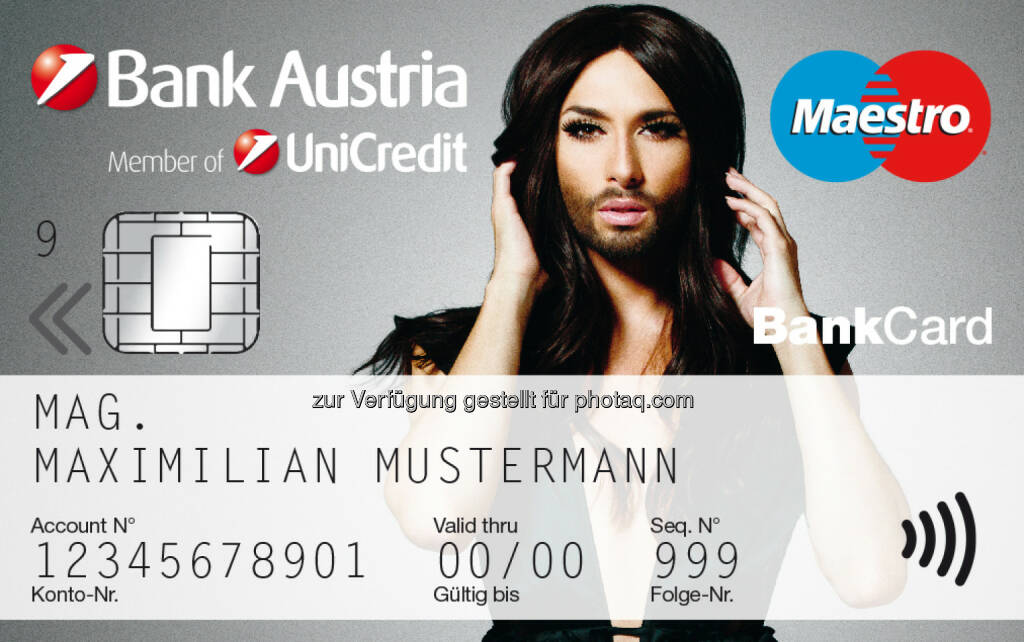 Bank Austria: Conchita Wurst als neues Werbetestimonial für CashBack (09.10.2014)