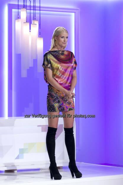 Lena Gercke startete bei Puls 4 ihre Moderationskarriere - aus: Puls 4 avanciert zu Talentschmiede für deutschen TV Markt (Bild: Gerry Frank), © Aussender (10.10.2014)