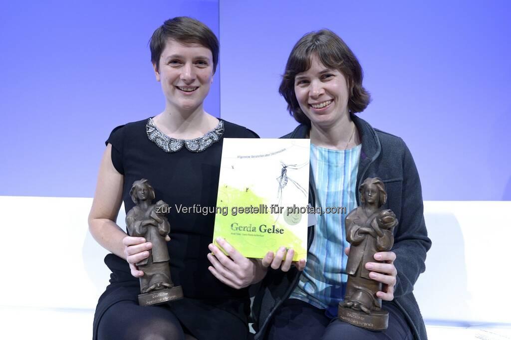 Laura Momo Aufderhaar (Illustration) und Heidi Trpak (Autorin): St. Nikolausstiftung: Deutscher Jugendliteraturpreis für Österreich, © Aussendung (12.10.2014)