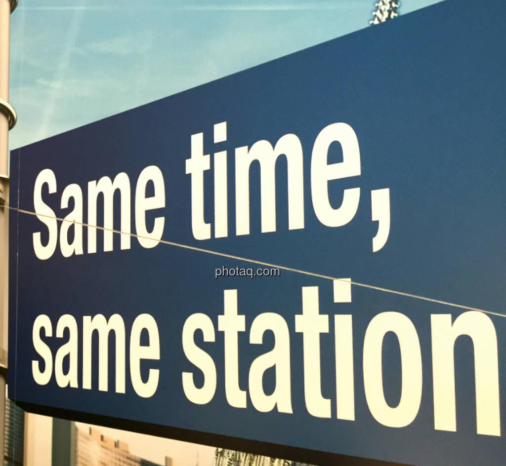 Same time, same station (14.10.2014)