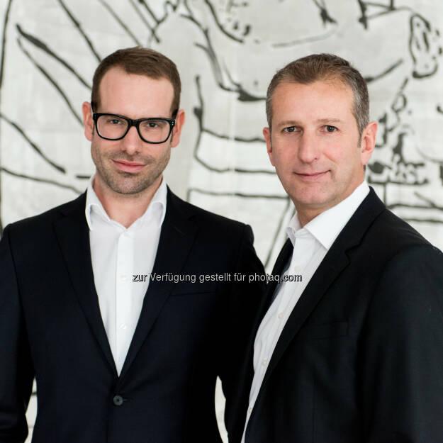 Matthias Bayr, Günther Trattner (rechts): TÜV Austria: Qualität im Interesse der KlientInnen: TÜV Austria zertifiziert mit Partner Provect die Qualität der Steuerberatungskanzleien, © Aussender (15.10.2014)