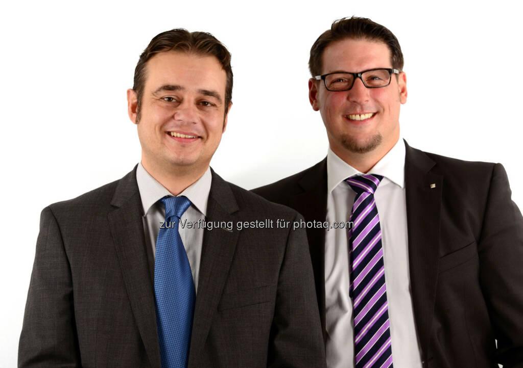 Martin Heissenberger und Maximilian Schertler leiten zwei neue Vertriebsteams bei Bechtle IT-Systemhaus, © Aussender (16.10.2014)