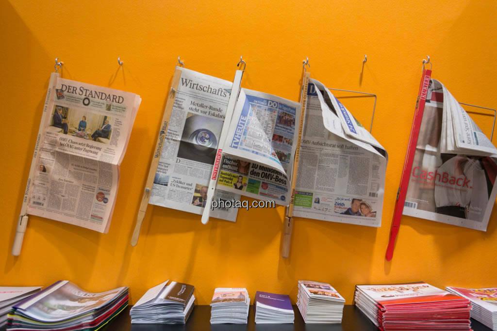 Zeitungen, Printmedien, © photaq/Martina Draper (16.10.2014)