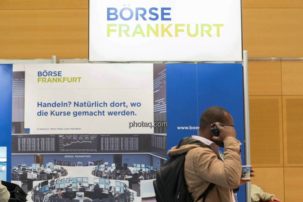 Börse Frankfurt, telefonische Order, Order, © photaq/Martina Draper (16.10.2014)