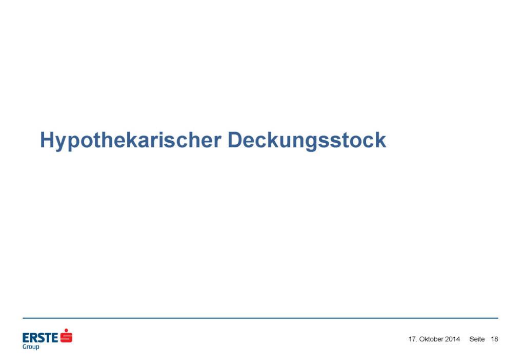 Hypothekarischer Deckungsstock, © Erste Group Research (17.10.2014)