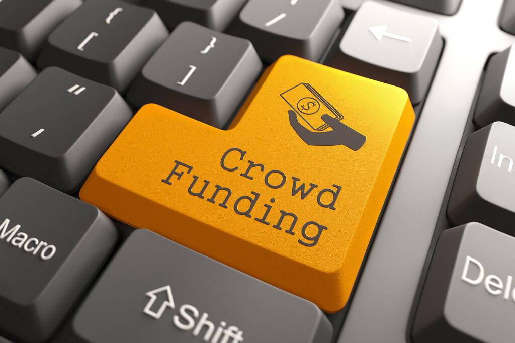 Crowdfunding, Tastatur, orange Taste - http://www.shutterstock.com/pic-149428370.html, © www.shutterstock.com (18.03.2018)