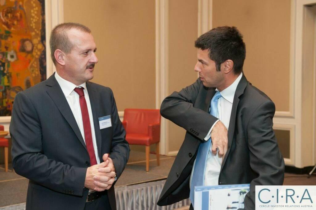 Alois Wögerbauer (3 Banken Generali), Rudolf Zipfelmayer (Erste Group), © C.I.R.A. (21.10.2014)