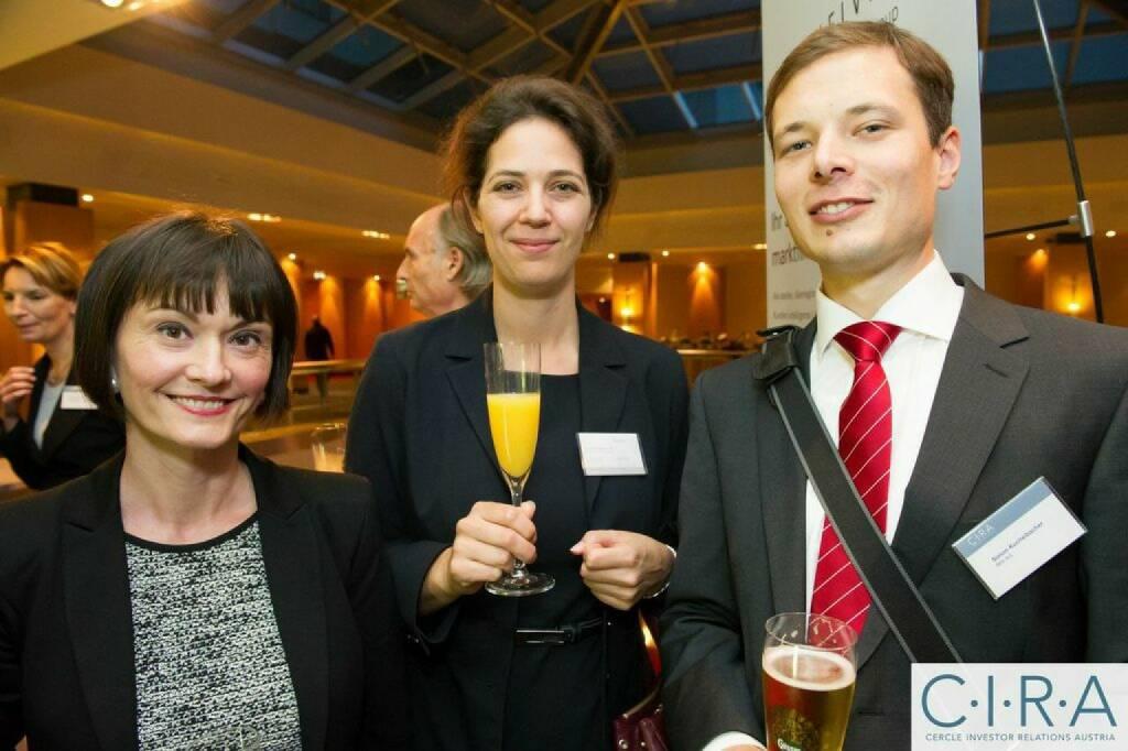 Edith Franc (WIener Börse), Christine Reitsamer (Baader Bank), Simon Kuchelbacher (RHI), © C.I.R.A. (21.10.2014)