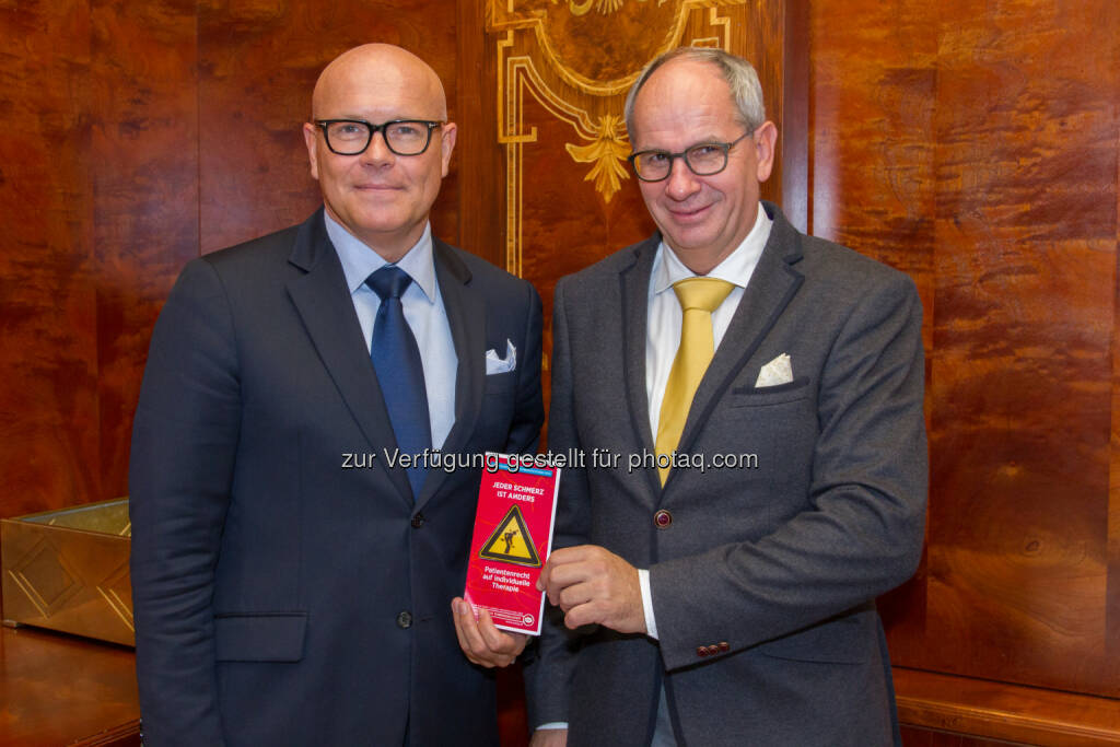 Christian Lampl, Rudolf Likar,: B&K - Bettschart&Kofler Kommunikationsberatung: Schmerzwochen: ÖSG-Präsident Prof. Lampl kritisiert Sparen auf Kosten von Schmerzpatienten (24.10.2014)