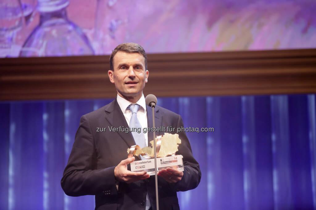 EVVA-Geschäftsführer Stefan Ehrlich-Adám ist Österreichischer Unternehmer des Jahres, © Aussender (27.10.2014)