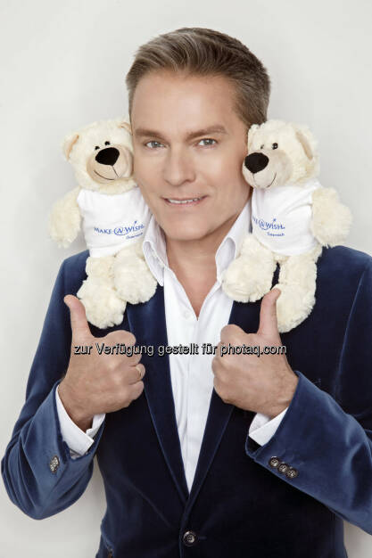 Aigner PR Communication Services KG: Alfons Haider für Make-A-Wish, © Aussendung (27.10.2014)