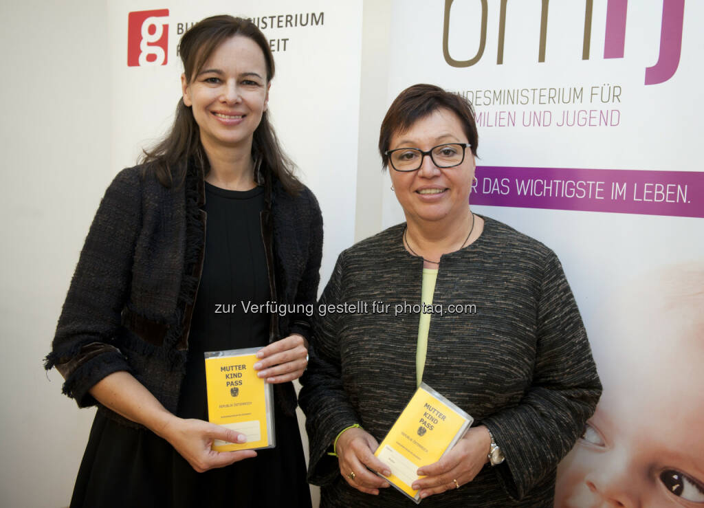 Familienministerin Sophie Karmasin Gesundheitsministerin Sabine Oberhauser: Auftakt zur Weiterentwicklung des Mutter-Kind-Passes (30.10.2014)