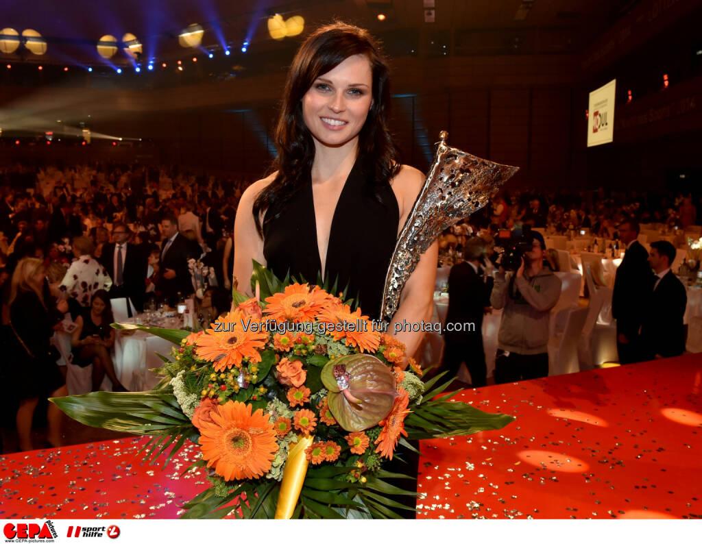 Anna Fenninger, Sportlerin des Jahres, Lotterien Gala Nacht des Sports, Photo: Gepa pictures/ Michael Riedler, ©  Gepa pictures/ Michael Riedler (31.10.2014)