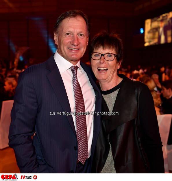 Franz Klammer and Annemarie Moser Proell, Lotterien Gala Nacht des Sports, Photo: Gepa pictures/ Michael Riedler, ©  Gepa pictures/ Michael Riedler (31.10.2014)