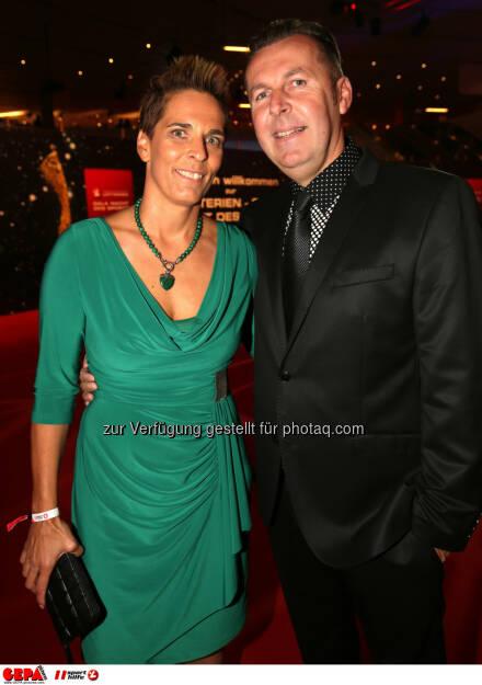 Michaela Dorfmeister mit Ehemann Andreas, Lotterien Gala Nacht des Sports, Photo: Gepa pictures/ Walter Luger, ©  Gepa pictures/ Michael Riedler (31.10.2014)
