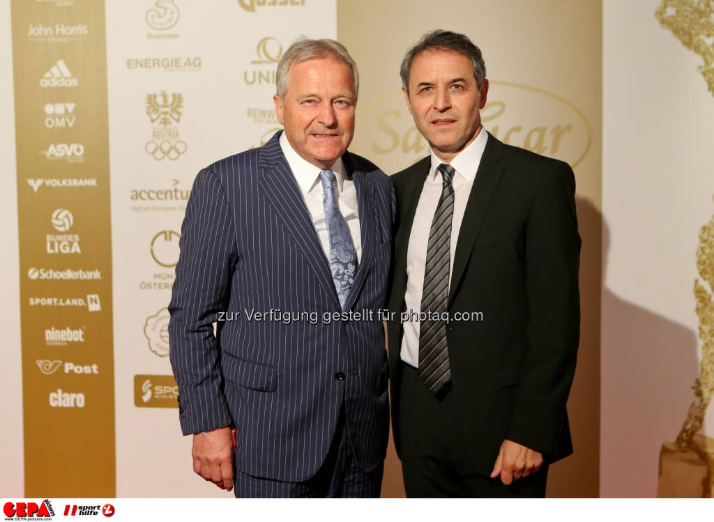 Leo Windtner (OEFB) and Nationalmannschafts Trainer Marcel Koller, Lotterien Gala Nacht des Sports, Photo: Gepa pictures/ Christian Walgram, ©  Gepa pictures/ Michael Riedler (31.10.2014)
