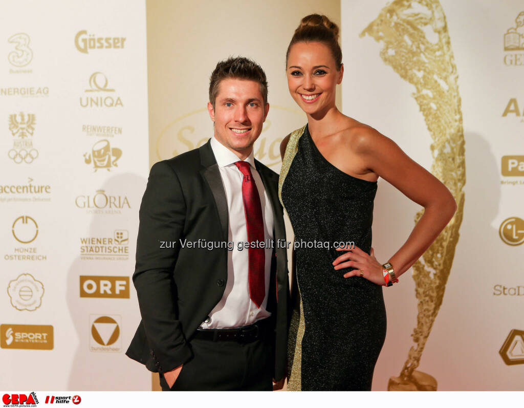 Marcel Hirscher (AUT), Laura Moisl. Photo: GEPA pictures/ Christian Walgram, ©  Gepa pictures/ Michael Riedler (31.10.2014)