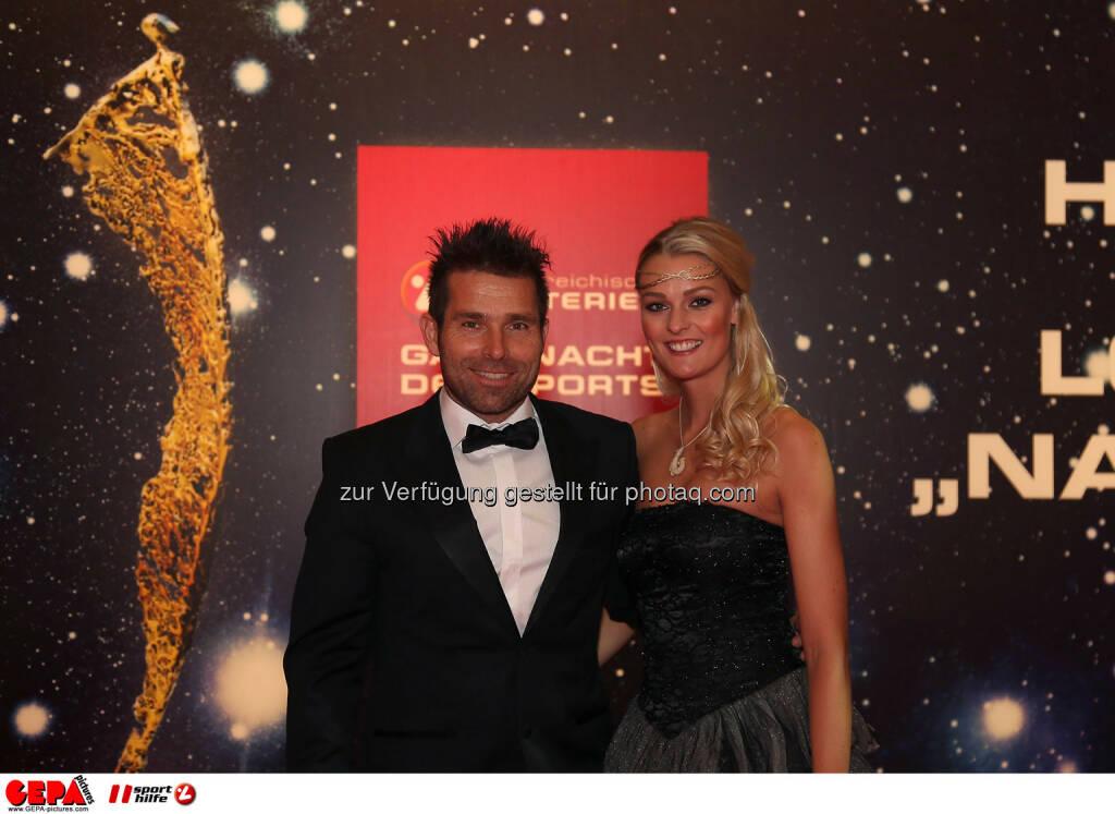 Hannes Arch und MIriam Hoeller. Photo: GEPA pictures/ Hans Oberlaender, ©  Gepa pictures/ Michael Riedler (31.10.2014)