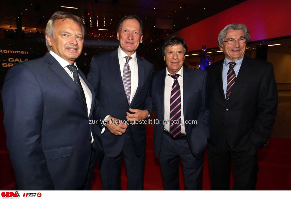 Hans Pum (OESV), Franz Klammer (AUT), Peter Schroecksnadel und Klaus Leistner (OESV). Photo: GEPA pictures/ Walter Luger, ©  Gepa pictures/ Michael Riedler (31.10.2014)