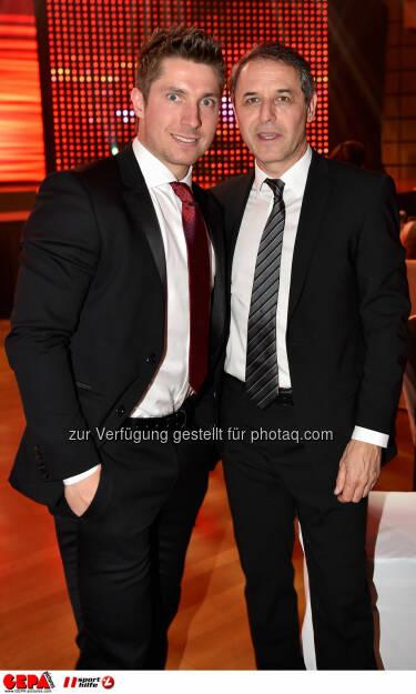 Marcel Hirscher (AUT) und Marcel Koller (AUT). Photo: GEPA pictures/ Michael Riedler, ©  Gepa pictures/ Michael Riedler (31.10.2014)