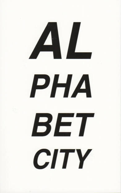 Pascal Anders - Alphabet City, Self published 2011, Cover - http://josefchladek.com/book/pascal_anders_-alphabet_city, © (c) josefchladek.com (31.10.2014)