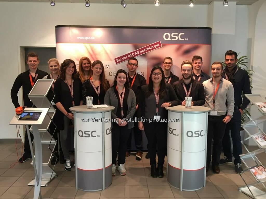 Willkommen zum Speed Day 2014! Von 10 bis 16 Uhr können sich Berufsanfänger über Ausbildungsplätze bei QSC und vielen anderen Unternehmen aus der Umgebung im Kölner Gewerbegebiet Ossendorf informieren.  Wir freuen uns auf euch!  Source: http://facebook.com/QSCAG, © Aussendung (31.10.2014)