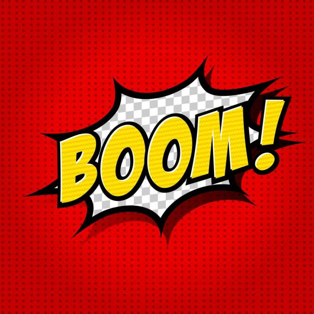 Boom, Knall, Knalleffekt, Explosion, http://www.shutterstock.com/de/pic-156901574/stock-vector-boom-comic-speech-bubble-cartoon.html, © www.shutterstock.com (18.03.2018)