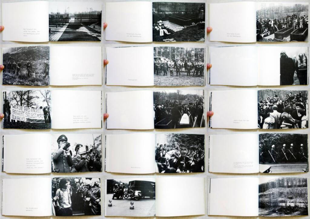 Lothar Beck & Max Dans - Beerdigung, Internationalismus Verlag 1977, Beispielseiten, sample spreads - http://josefchladek.com/book/lothar_beck_max_dans_-_beerdigung, © (c) josefchladek.com (05.11.2014)