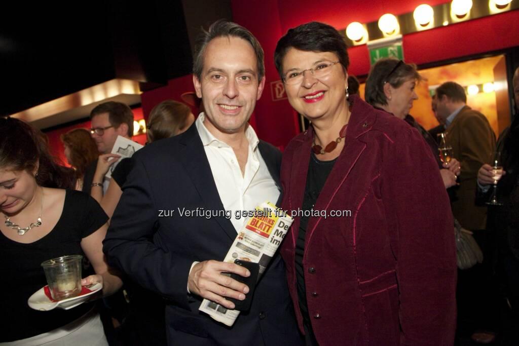 Wiener Bezirksblatt-Geschäftsführer Thomas Strachota, Vizebürgermeisterin Renate Brauner , © leisure.at/Arman Rastegar (07.11.2014)
