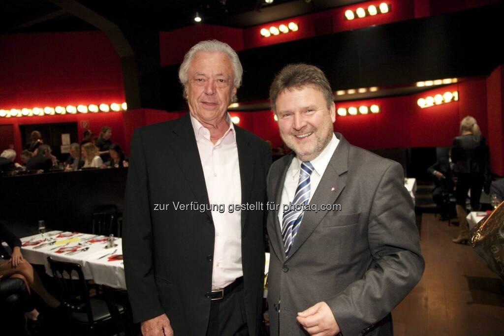 feibra-Gründer und echo medienhaus-Miteigentümer Anton Feistl, Stadtrat Michael Ludwig, © leisure.at/Arman Rastegar (07.11.2014)