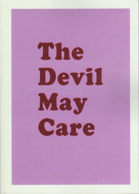 Aaron McElroy - The Devil May Care, S_U_N_ 2014, Cover - http://josefchladek.com/book/aaron_mcelroy_-_the_devil_may_care, © (c) josefchladek.com (07.11.2014)