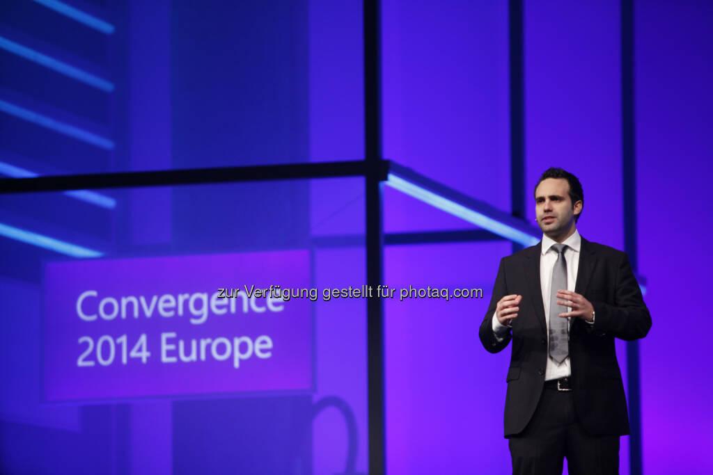 Lyoness Europe AG: Lyoness Mitarbeiter Christian Vancea als Speaker bei der Microsoft Convergence, © Aussender (07.11.2014)