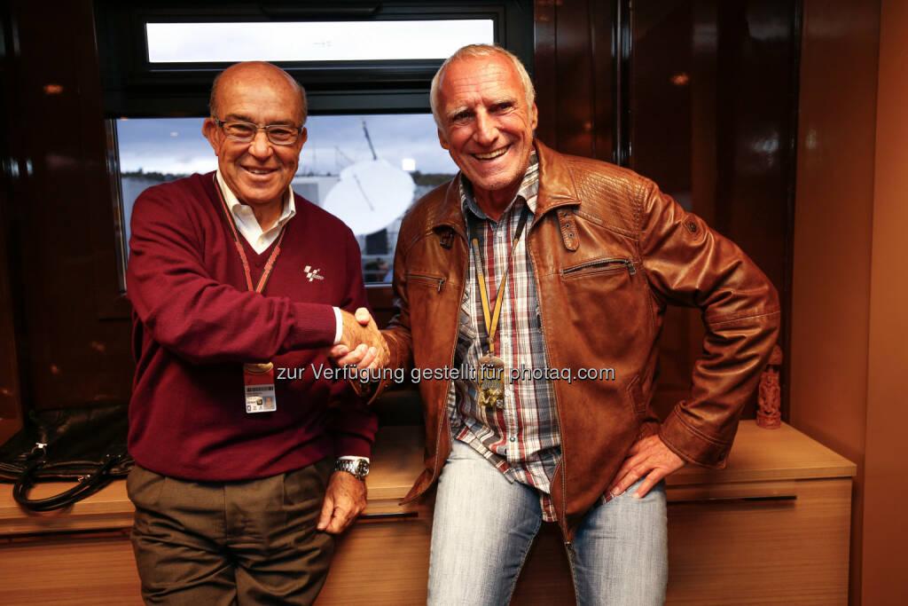 Carmelo Ezpeleta, Dietrich Mateschitz: Red Bull GmbH: Die MotoGP kommt zurück nach Österreich nach Spielberg auf den Red Bull Ring, © Aussendung (08.11.2014)