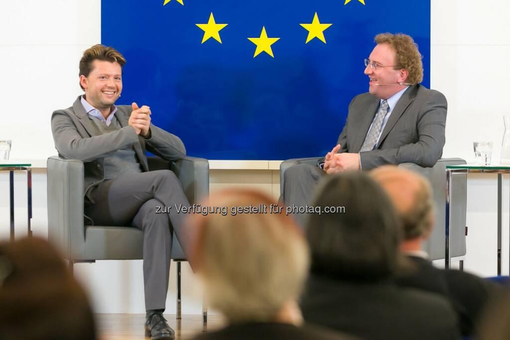 Julian Rachlin und Benedikt Weingartner: Vertretung der EU-Kommission in Österreich: Julian Rachlin im Haus der EU: Europa bedeutet offene Grenzen, Freiheit und Vielfalt, © Aussender (11.11.2014)