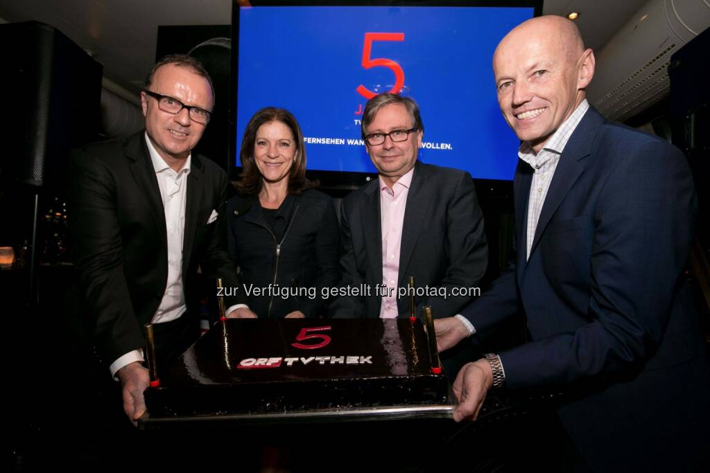 ORF-Onlinechef Thomas Prantner, Ingrid Thurnher, ORF-Generaldirektor Alexander Wrabetz, Peter Resetarits, © ORF/Hans Leitner (11.11.2014)
