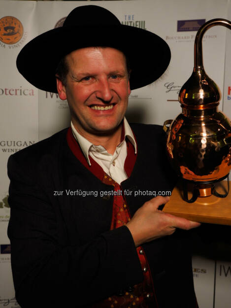 Georg Hiebl, der Gewinner der Boutique Distiller of the Year Trophy, © Aussendung (13.11.2014)