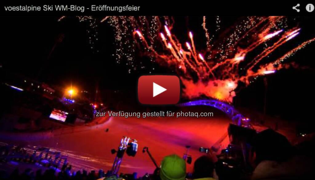 """Der Auftritt der Lipizzaner gehörte zu einem der Höhepunkte. Auch die Ansprache von Arnold Schwarzenegger zog alle in den Bann. Nach den Gesangseinlagen von Nadine Beiler, Andreas Gabalier und Wolfgang Ambros endete die Veranstaltung mit der inoffiziellen Österreichischen Bundeshymne """"I am from Austria"""" von Rainhard Fendrich. http://voestalpine-wm-blog.at/2013/02/05/die-arena-bebt-schladming-eroffnet-die-wm-mit-einer-spektakularen-show/#.URDrCI7aK_Q, &copy; <a href="""
