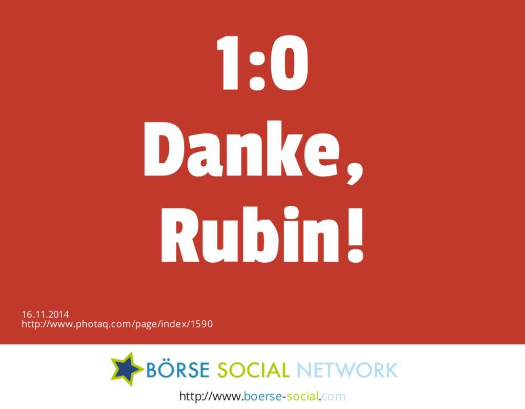 1:0 Danke, Rubin!  (16.11.2014)