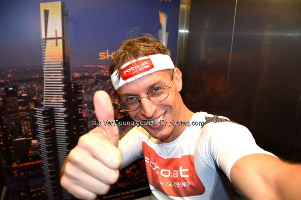 Rolf Majcen: 10. Platz beim Treppenlauf im Eureka Tower, Melbourne, Australien, © Aussendung (16.11.2014)