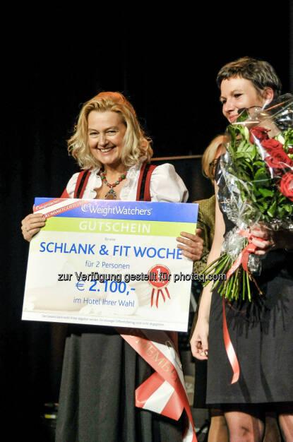 Weight Watchers Österreich: Event: 40 Jahre Weight Watchers Österreich - Wahl zum erfolgreichsten Mitglied aus 40 Jahren. Das erfolgreichste Mitglied der letzten 40 Jahre -Doris Schwarzbach (17.11.2014)