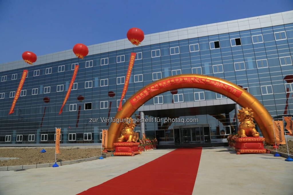 Continental eröffnet das zweite Elektronik-Werk im chinesischen Wuhu, © Aussendung (17.11.2014)