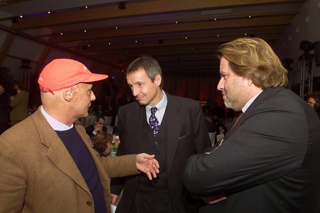 Niki Lauda, Martin Bartenstein, Wolfgang Zekert (17.11.2014)