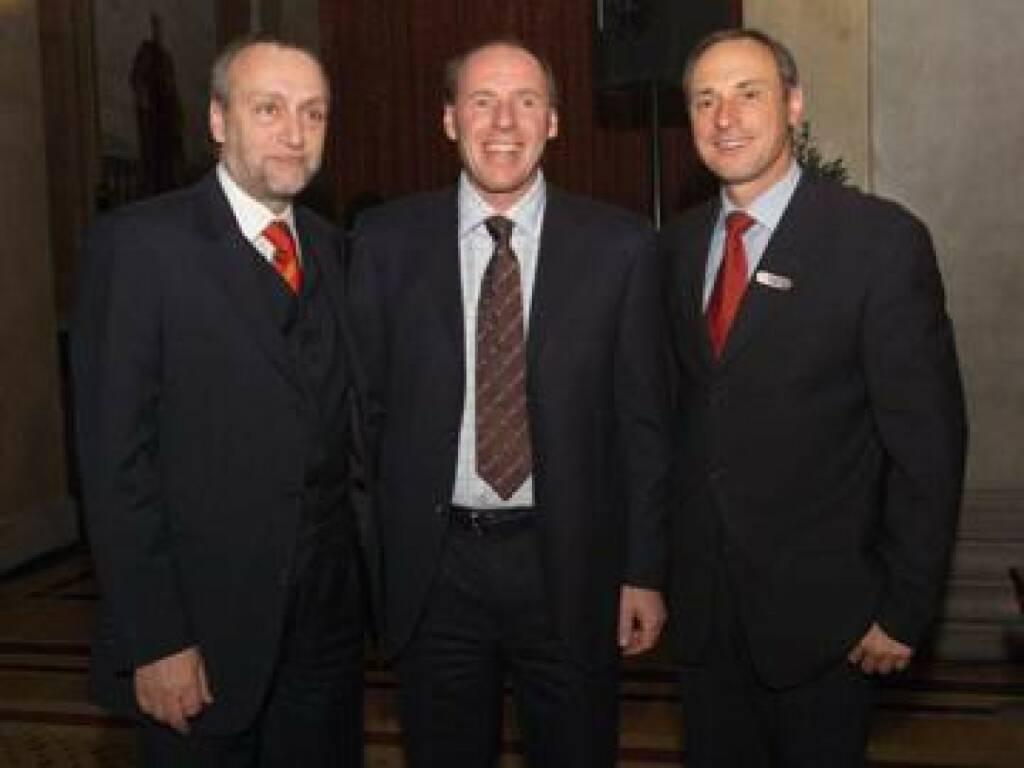 Rudolf Fischer, Harti Weirather und Sporthilfe-Chef Schutti (17.11.2014)