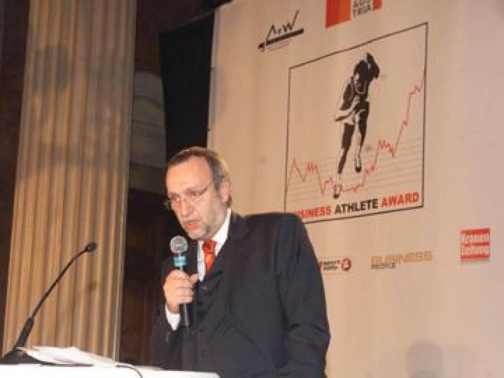 Rudolf Fischer vom Hauptsponsor Telekom Austria: Sportler und Manager haben vieles gemeinsam (17.11.2014)